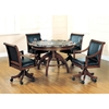 Palm Springs Game/Dining Table in Medium Brown Cherry - HILL-4185GTB