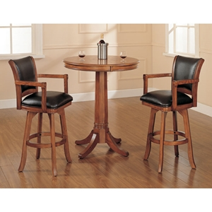 Park View 3 Piece Bar Set with Traditional Stools