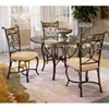 Pompei Glass Dining Table with Slate Accented Chairs