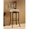 "Rowan 30"" Swivel Bar Stool with Oval Fossil Stone Accent - HILL-4897-830"
