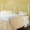 Ruby Textured White Metal Headboard with Frame - HILL-1687H