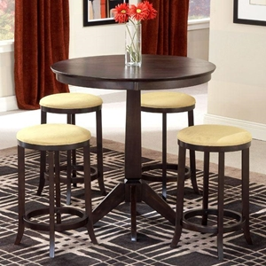 Tiburon 5 Piece Counter Set with Backless Stools