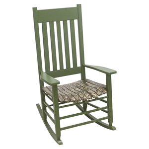 Realtree Max 4 Camouflage Rocking Chair - Green