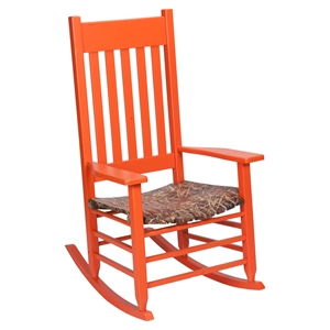 Realtree Max 4 Camouflage Rocking Chair - Orange