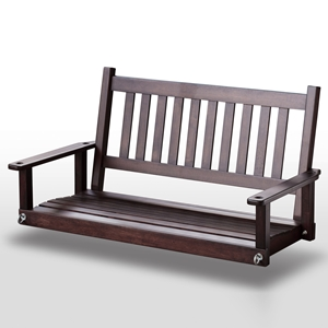 Plantation 50 Slatted Porch Swing - Mahogany Stain