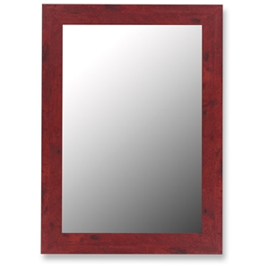 Creighton Bevel Mirror in Barn Red - Made in USA
