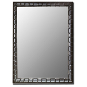 Barnes Bamboo Black Frame Bevel Mirror - Made in USA
