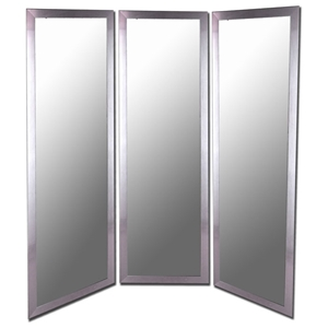 Paddington Mirrored Room Divider in Stainless Silver - Made in USA