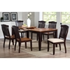 Niro 7 Piece Extension Dining Set - Slat Back Chairs, Mocha Finish - ICON-RT-78-DT-WY-MA-SET