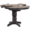 Round Counter Dining Table - Gray Stone and Black Stone - ICON-RD42-GRS-BKS