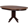 5 Pieces Contemporary Dining Set - Double X-Back, Wood Seat, Whiskey and Mocha - ICON-RD45-CON-CH56-WY-MA