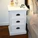 Halifax White Mahogany 3-Drawer Nightstand - INF-12055