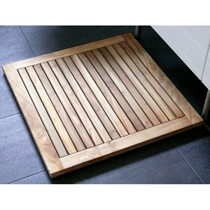Greenface Square Reclaimed Teak Mat in Natural Finish
