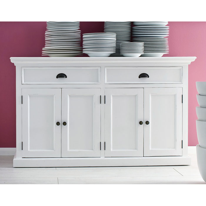 buffet table with drawers Halifax Mahogany 2 Drawer Buffet in White | DCG Stores buffet table with drawers