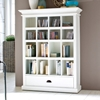 Halifax White Mahogany Bookcase with Drawer