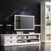 Halifax White Mahogany TV Console with 2 Drawers