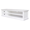 Halifax White Mahogany TV Console with 2 Drawers - INF-12086