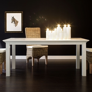 Halifax White Mahogany Dining Table
