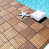 Le Click Teak Wood Interlocking Tiles in Oiled Finish - INF-1101