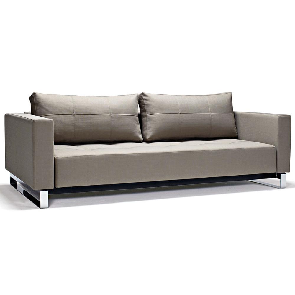 Cassius Deluxe Excess Queen Sofa Bed Tufted Medium Gray