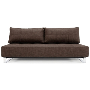 Supremax Deluxe Excess Convertible Sofa - Begum Dark Brown