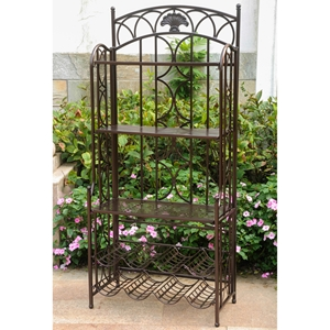 Mandalay 5-Tier Bakers Rack - Matte Brown Iron
