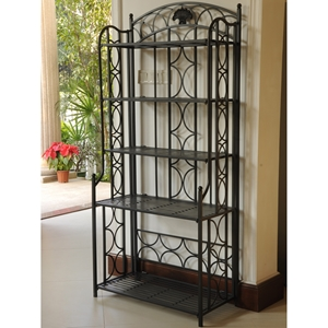 Chelsea 5-Tier Wrought Iron Folding Bakers Rack