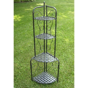 Mandalay Folding Corner Bakers Rack / Plant Stand