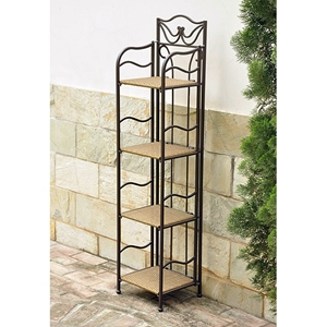 Valencia 12 Inch Display Shelf - Honey Pecan Wicker