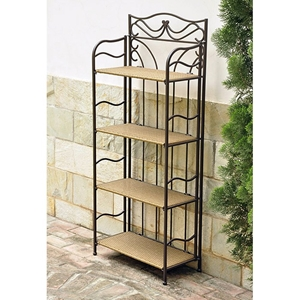 Valencia 24 Inch Display Shelf - Honey Pecan Wicker