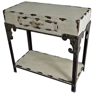 Mercutio Rectangular Accent Table - 1 Drawer, 1 Bottom Shelf