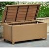 Barcelona Outdoor Storage Trunk Bench Honey Wicker