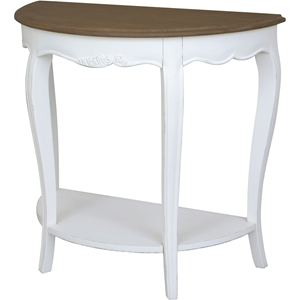 Ashbury Altesse Console Table - Half Moon, Antique White