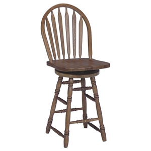 "Windsor 24"" Arrowback Swivel Counter Height Stool"