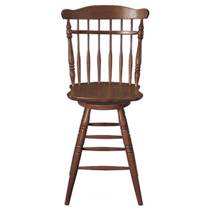"25.5"" Swivel Counter Stool in Soft Cherry"
