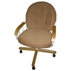 Upholstered Bucket Chair - Swivels and Tilts - IC-C108-33MP
