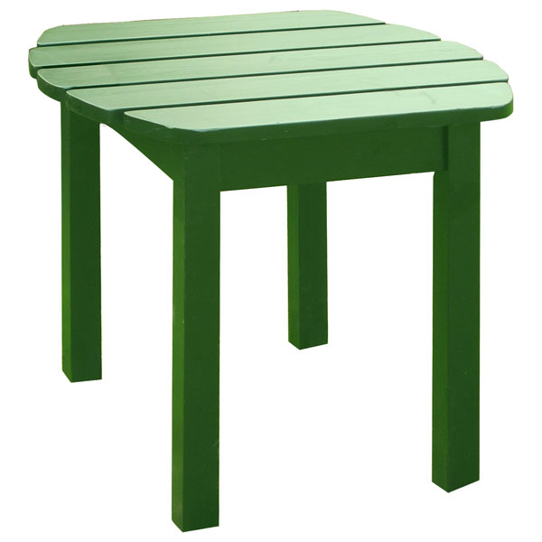Hunter Green Solid Wood Adirondack Side Table