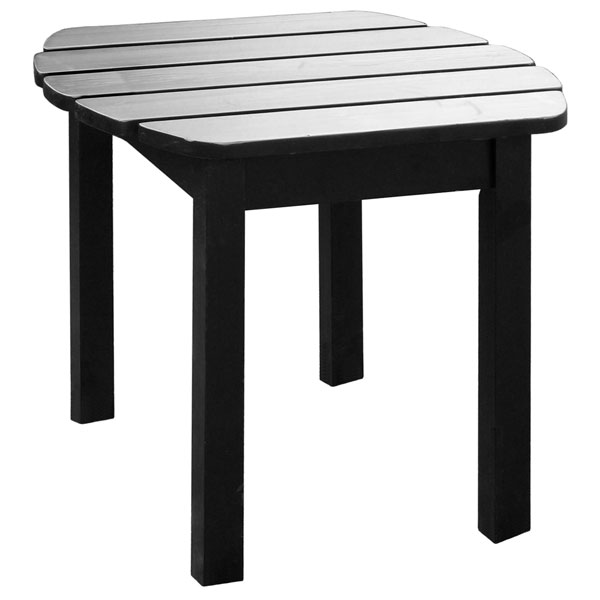Black Outdoor Adirondack Side Table