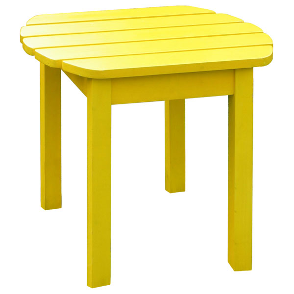 Outdoor Adirondack Yellow Side Table