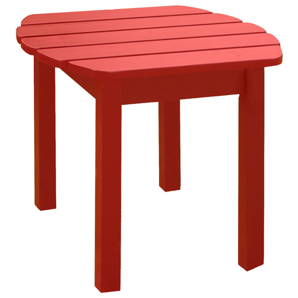 Red Outdoor Adirondack Side Table