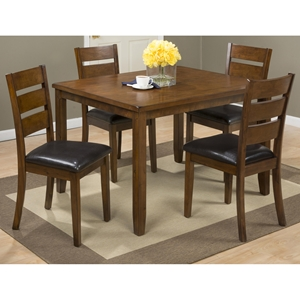 Plantation 5 Pieces Dining Set - Rectangular Table, Ladderback Chairs