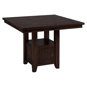 Kona Grove Fixed Pub Table - Storage Base, Chocolate
