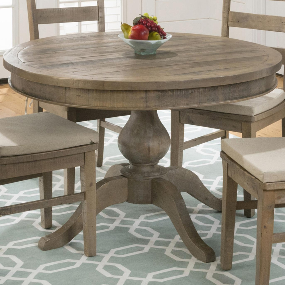 Slater Mill Round Extension Dining Table Brown Dcg Stores