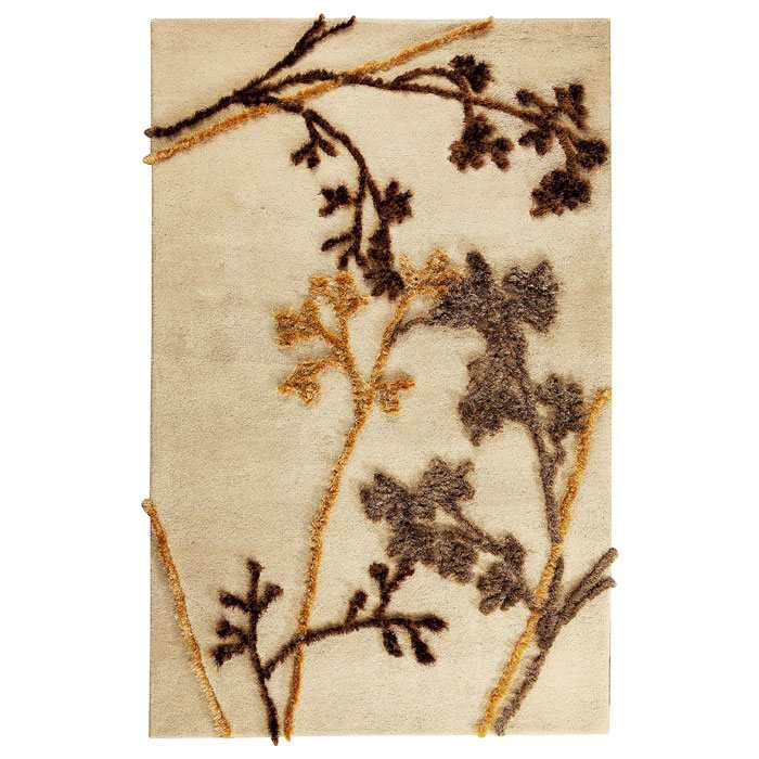 Blossom Hand Tufted Wool Rug in Beige