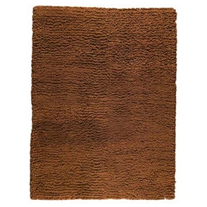 Ceres Hand Woven Wool Rug in Rust Brown