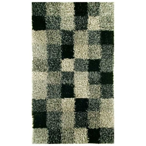 Daley Hand Woven Shaggy Rug in Grey