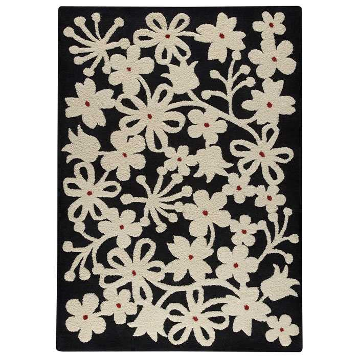 Jessie Hand Tufted Wool Rug in Charcoal