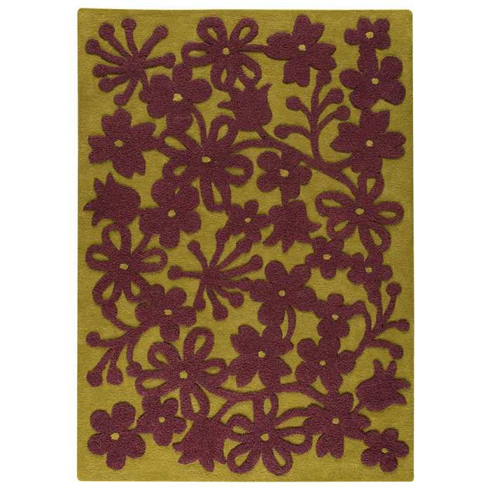 Jessie Hand Tufted Wool Rug in Green