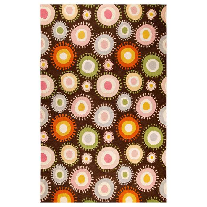 Lexy Hand Tufted Wool Rug in Chocolate and Multicolor