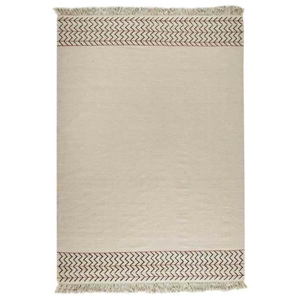 Naida Hand Woven Kelim Wool Rug in Off-White